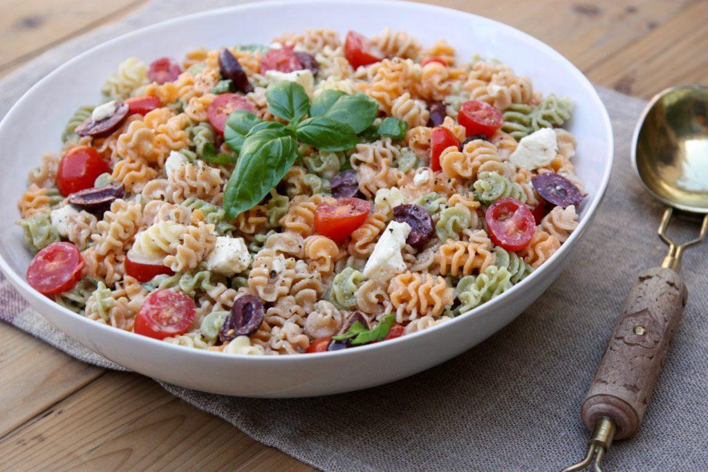 Radiatore Pasta Salad With Creamy Vinaigrette Good Thyme